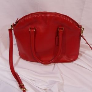 Coach Madison Bristol satchel in Red